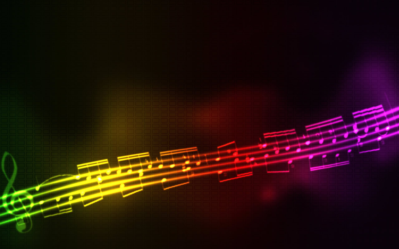 46+ Neon Music Notes Wallpaper on WallpaperSafari