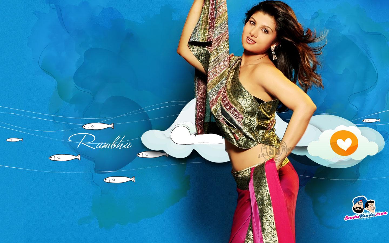 Telugu Actress Rambha Latest Desktop Wallpapers Santa Banta 1440x900