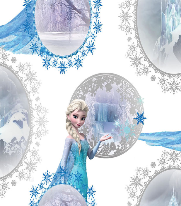 Rooms Disney Frozen Disney Frozen Bedroom Wallpaper   Elsa Scene 618x700