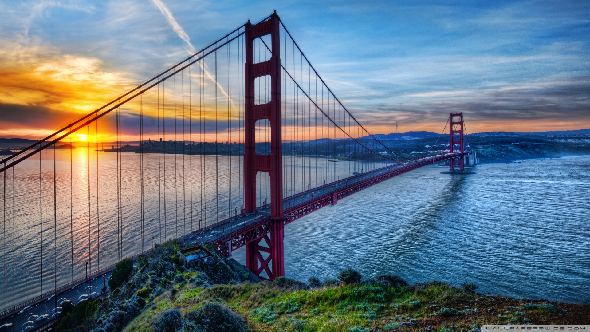 At San Francisco Wallpaper 1920x1080 Sunrise At San Francisco 1920x1080