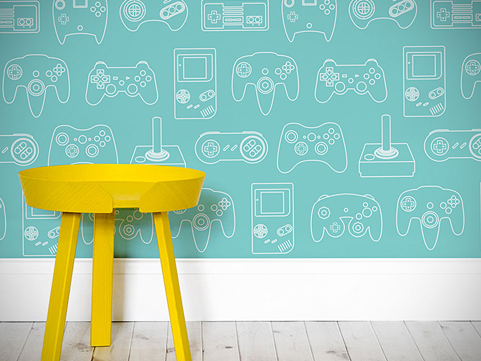 Retro Gaming Controllers Wallpaper is Exactly What Gaming Geeks Need 960x720