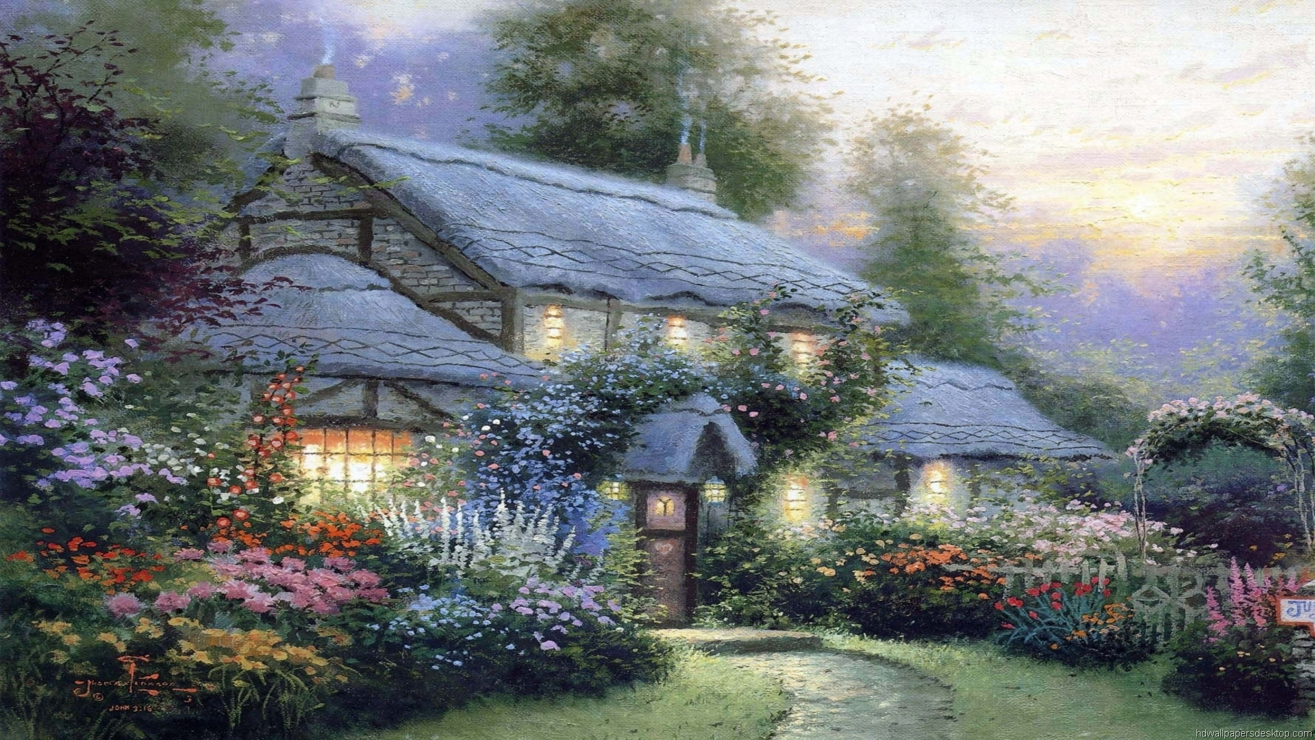 thomas kinkade wallpaper 1920x1080 - photo #17