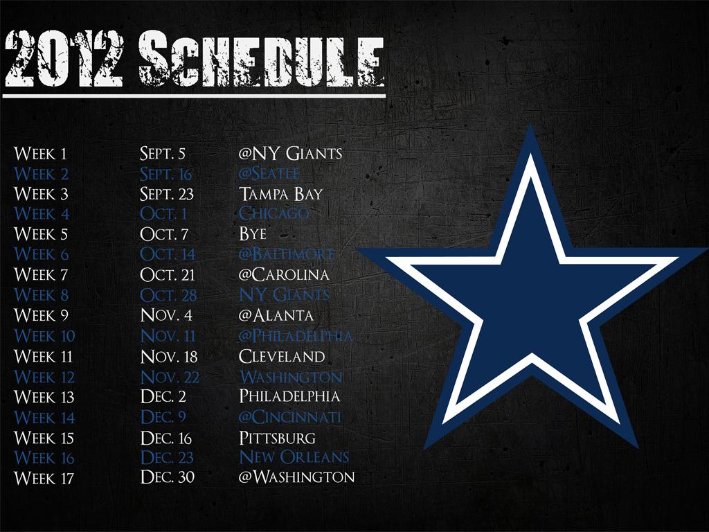 Cowboys 2012 Schedule Wallpaper 200x300 Dallas Cowboys 2012 Schedule 1024x768
