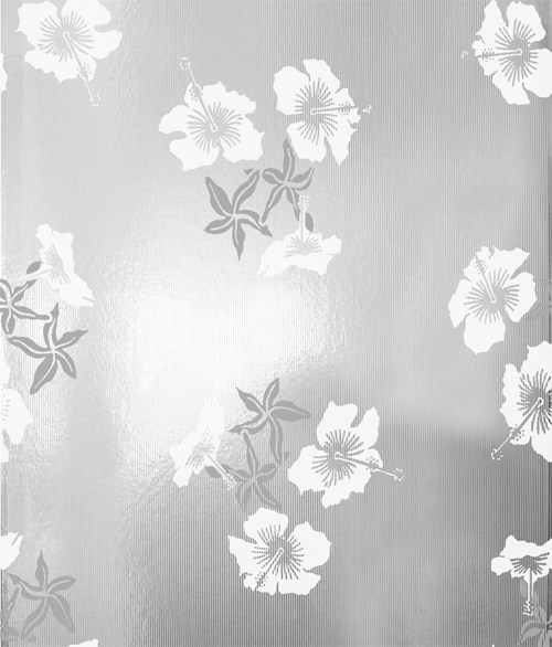 Hibiscus Wallpaper   White and Silver Monument Interiors 500x586