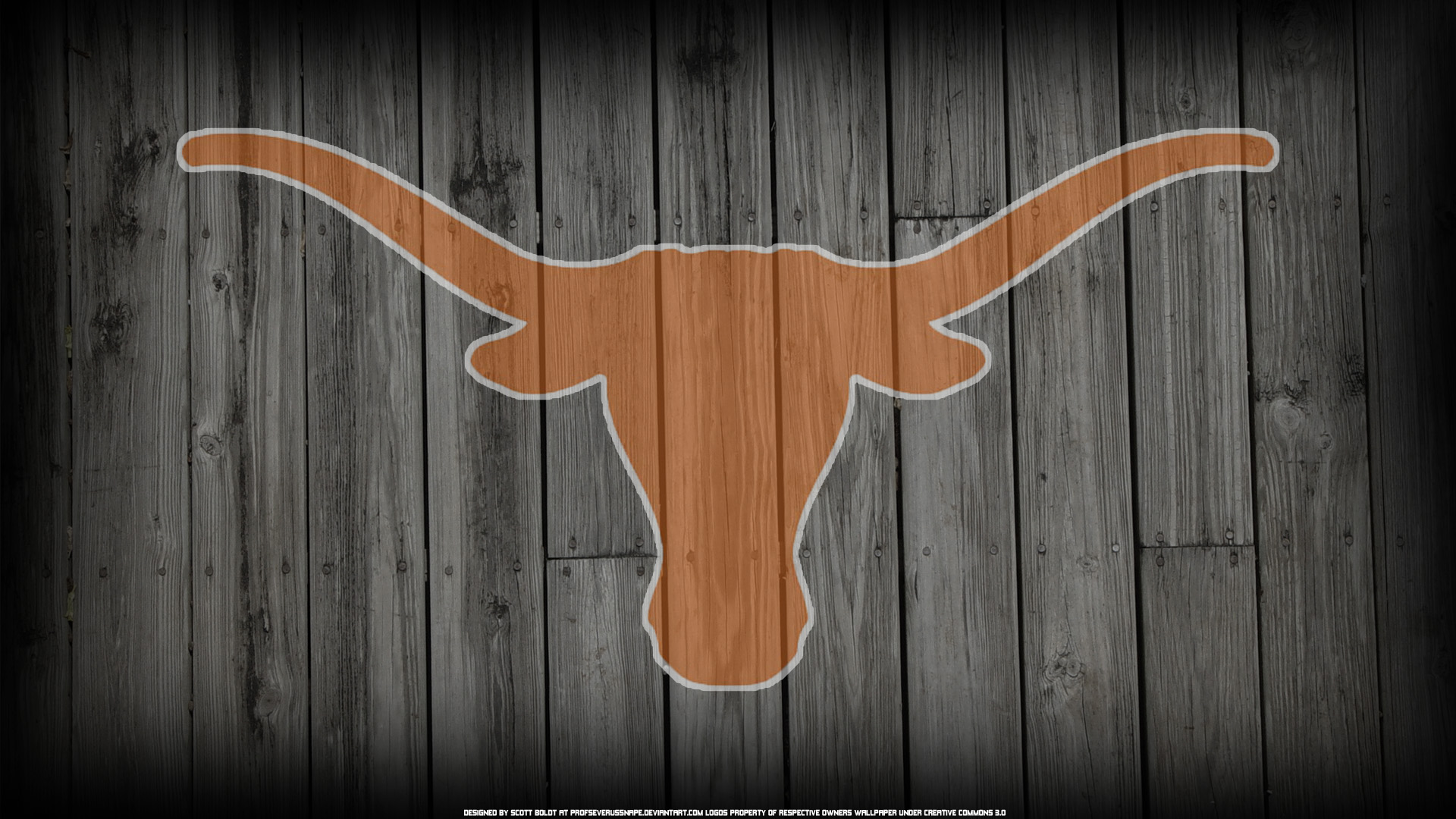 Texas Longhorns Logo on Wood Background by ProfSeverusSnape 1920x1080