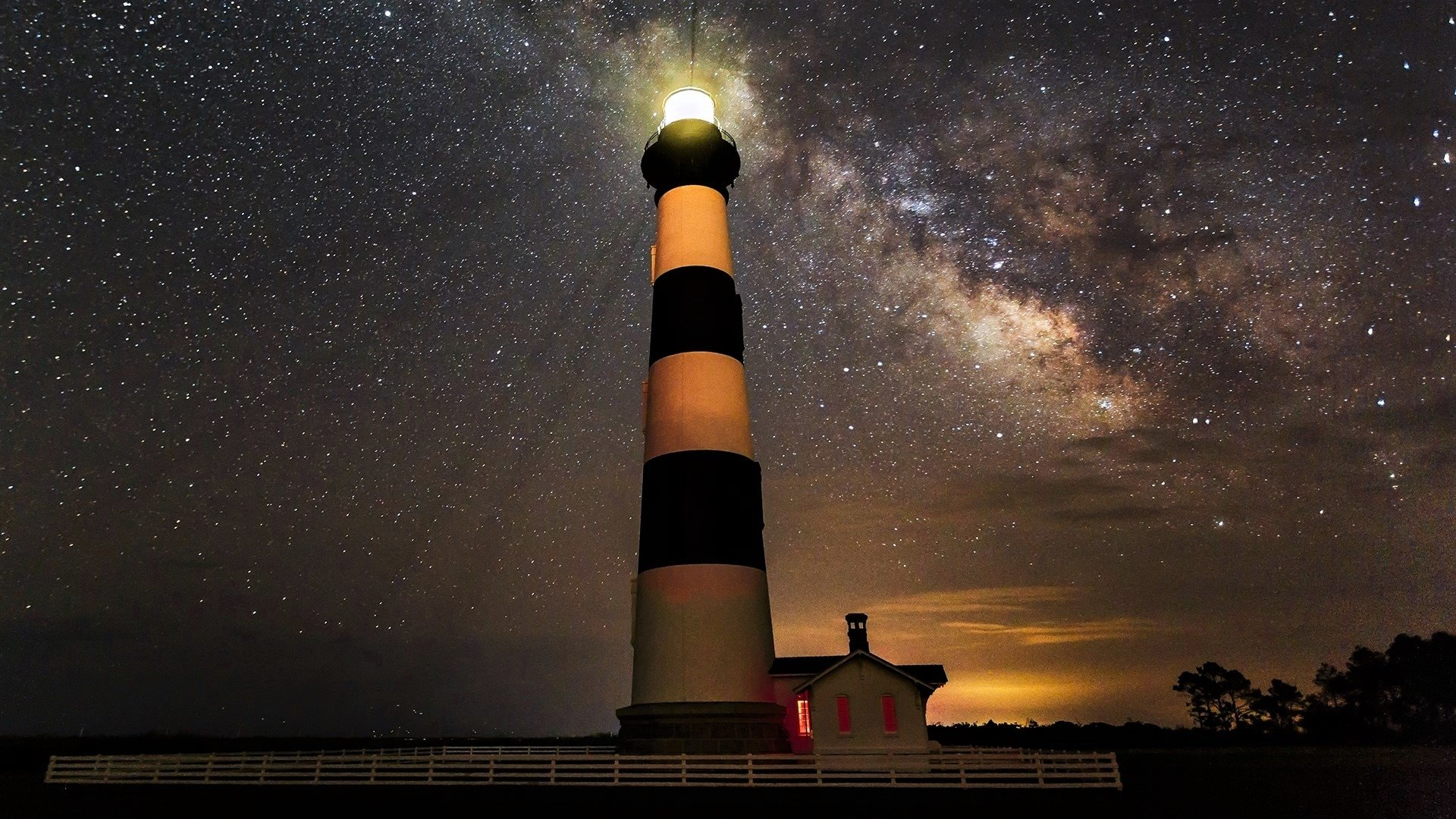 Bodie Lighthouse in North Carolina HD Wallpaper Background Image 1920x1080