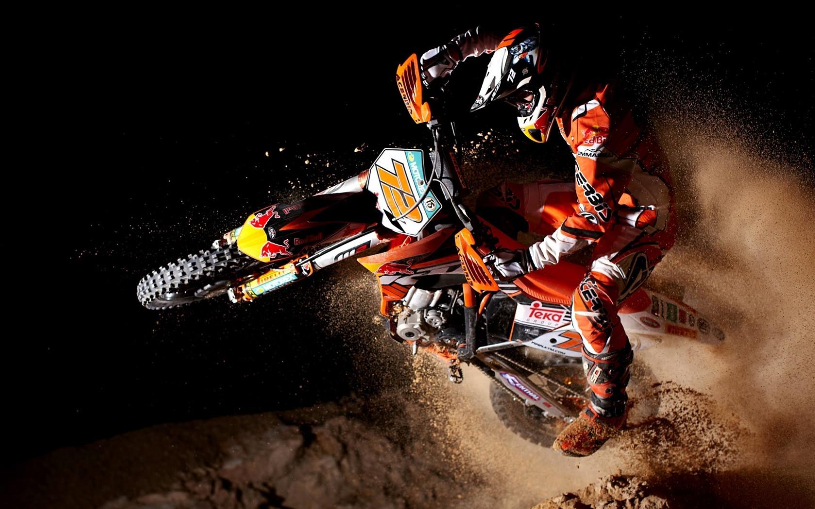 motorcycles dirt track racing race ktm bike wallpaper background 1680x1050