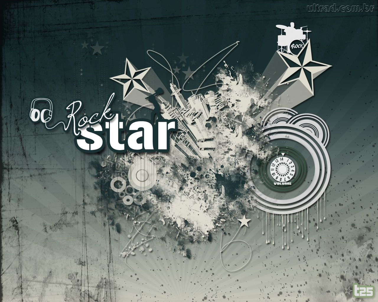 Papel de Parede   Estrela do Rock 1280x1024