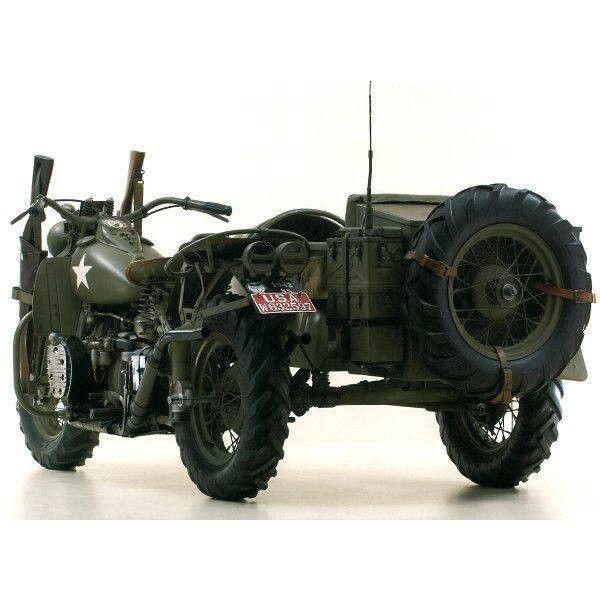 Rare World War 2 era Harley XA and sidecar Harley built 600x600