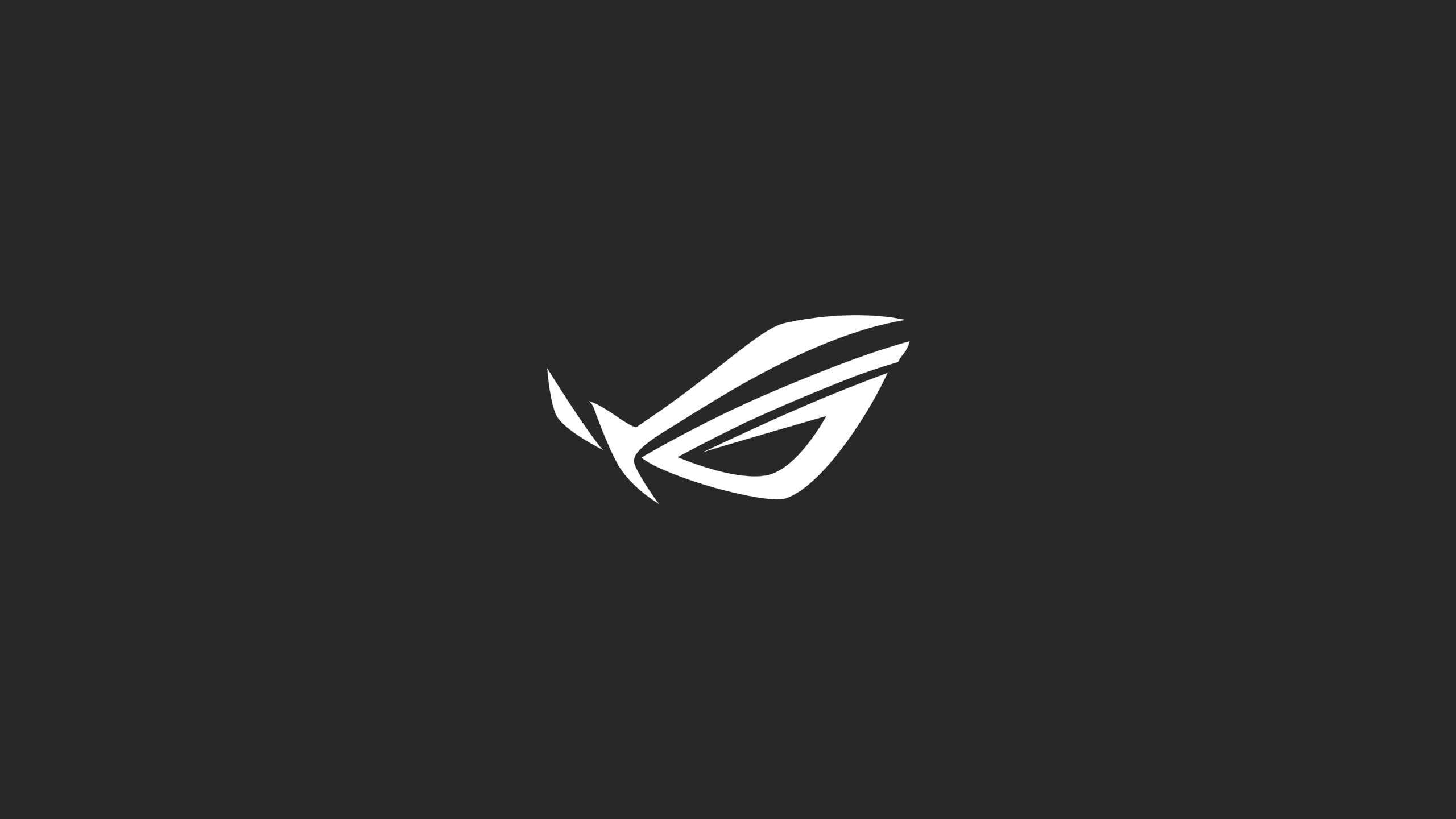 Asus ROG logo Republic of Gamers minimalism studio shot black 2560x1440