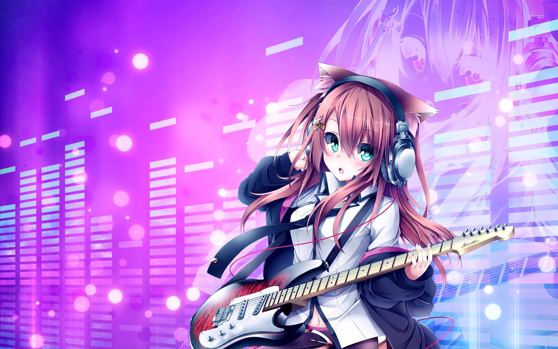 Guitar Anime Girl Wallpaper HD Wallpaper WallpaperLepi 1920x1200