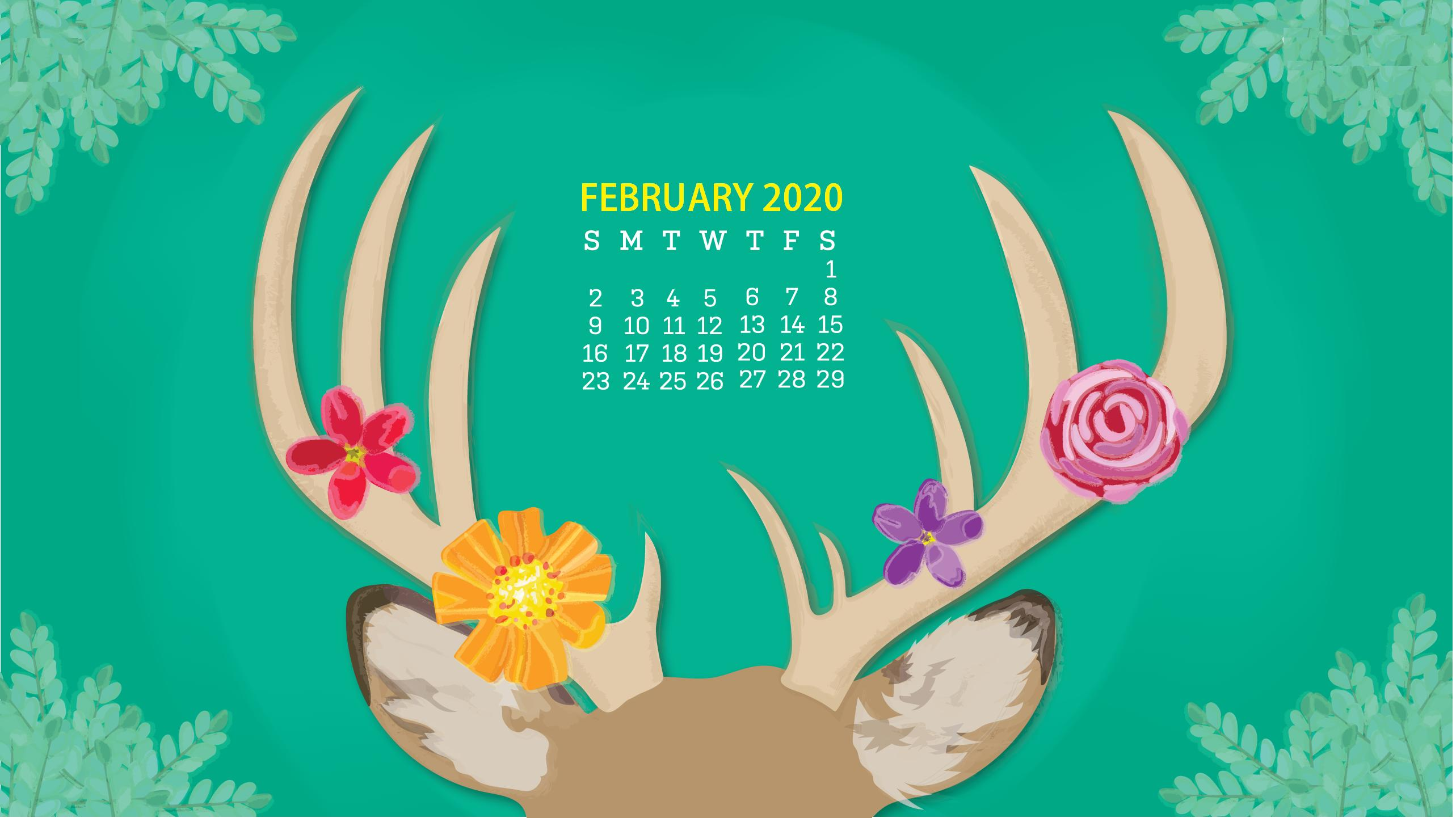 February 2020 Calendar Wallpapers   Top February 2020 2566x1442