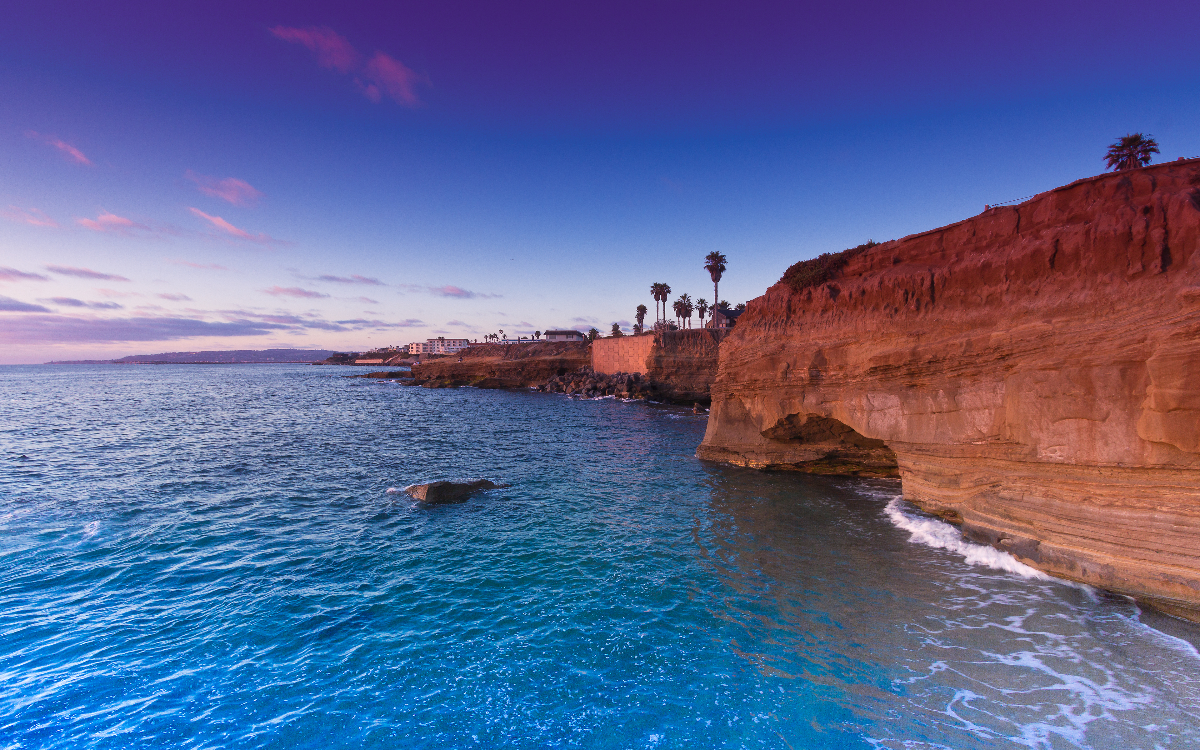 Sunset Cliffs San Diego USA wallpapers and images   wallpapers 3840x2400