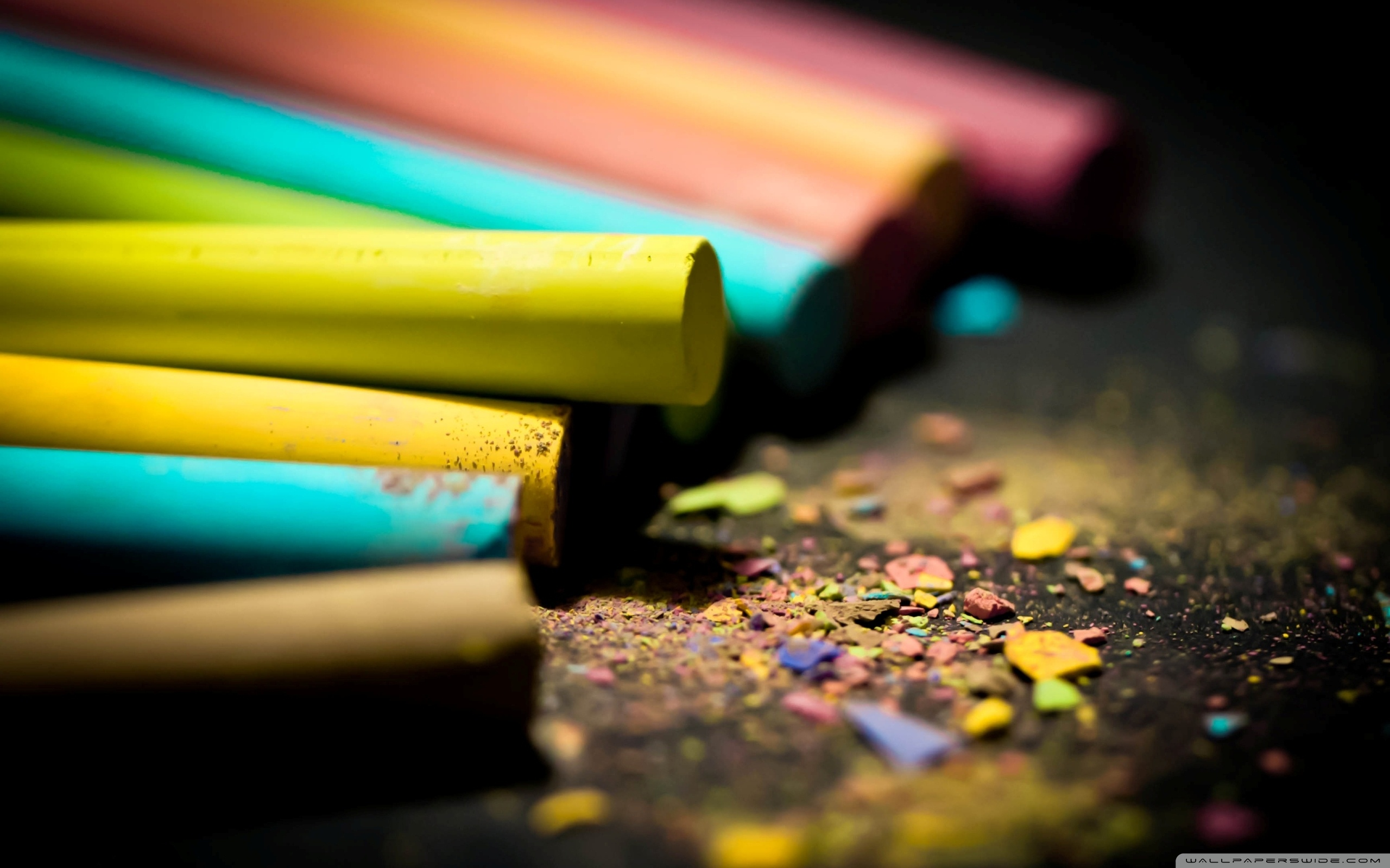 Colored Chalk 4K HD Desktop Wallpaper for 4K Ultra HD TV Dual 2560x1600