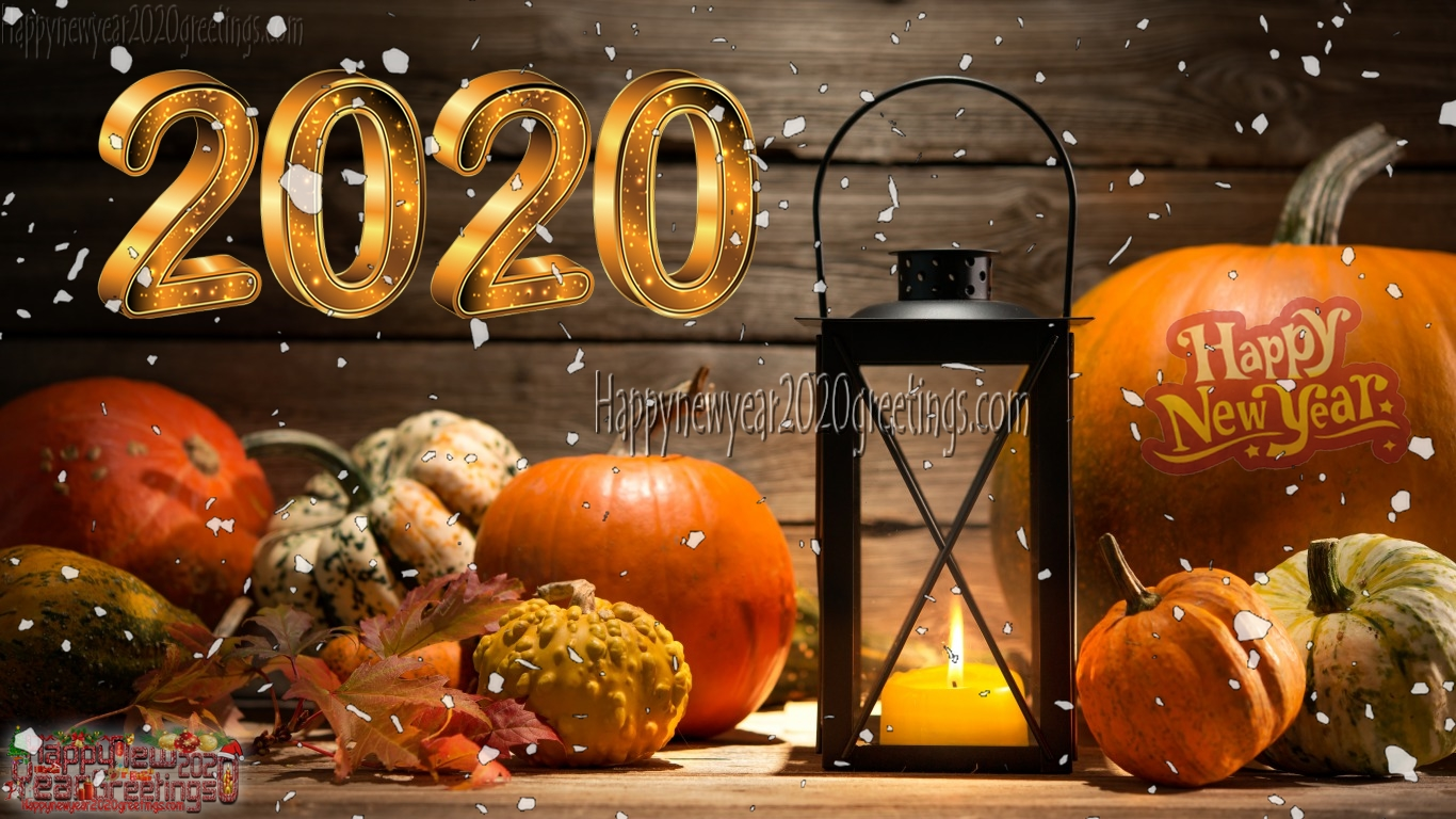Happy New Year 2020 Golden Wallpapers   New Year 2020 Golden 1366x768