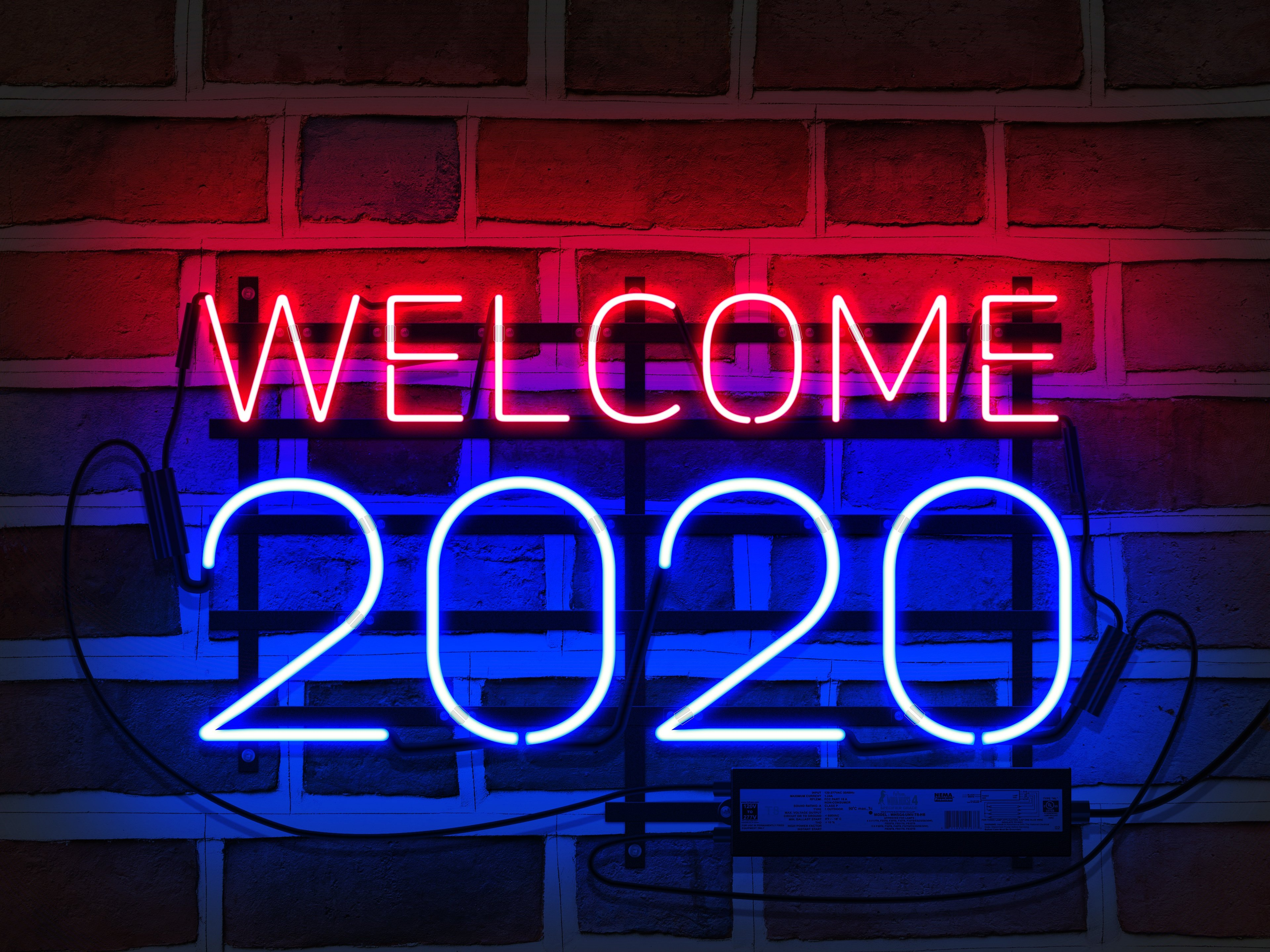 New Year 2020 4k Ultra HD Wallpaper Background Image 3840x2880 3840x2880