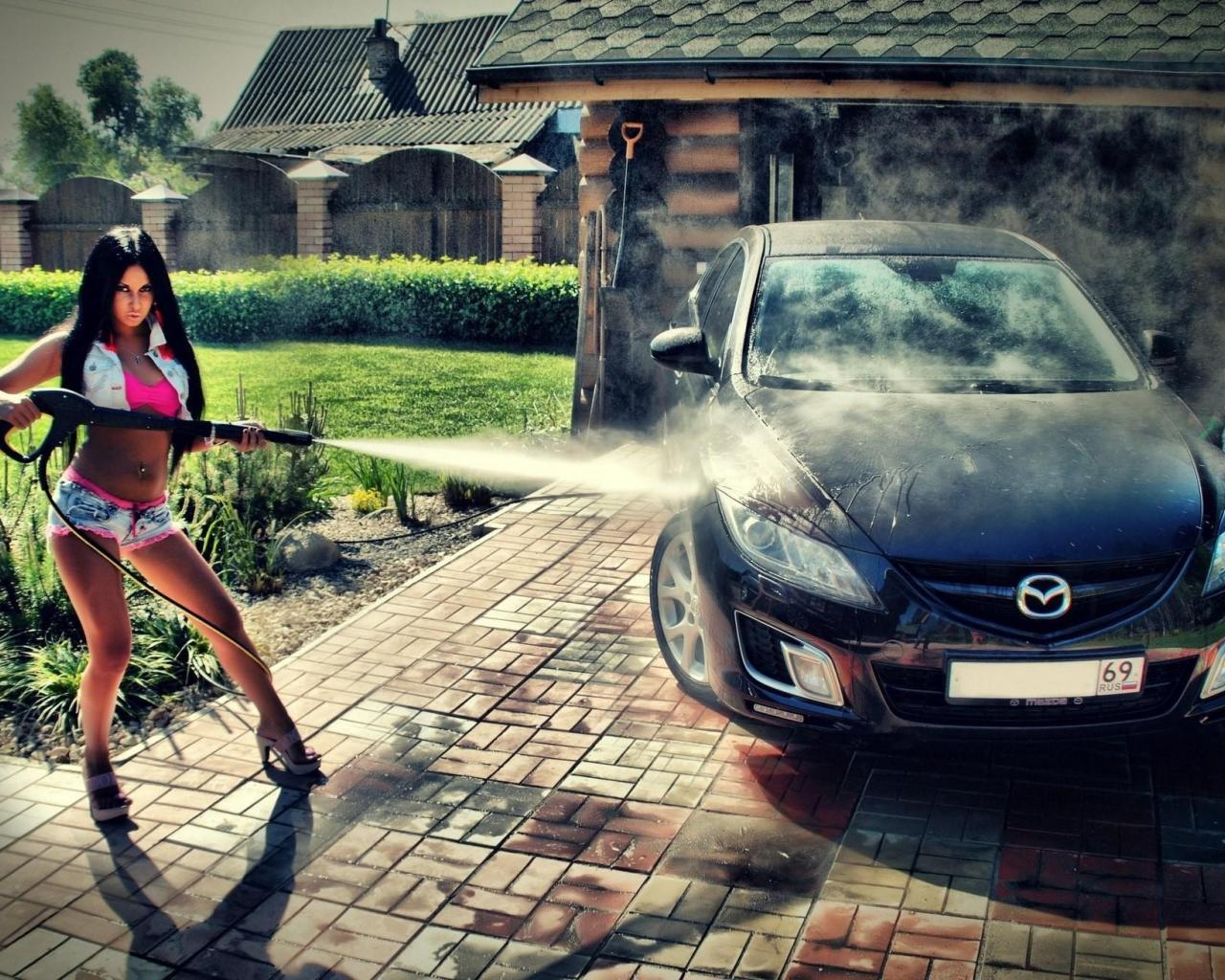girl washing the car 1246204 wallpaper   83918   HQ Desktop 1280x1024