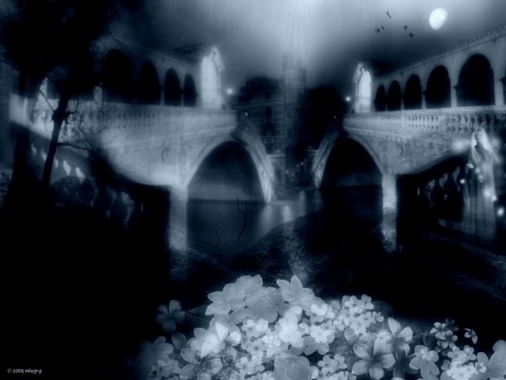Dark Gothic Castle Wallpaper 1024x768