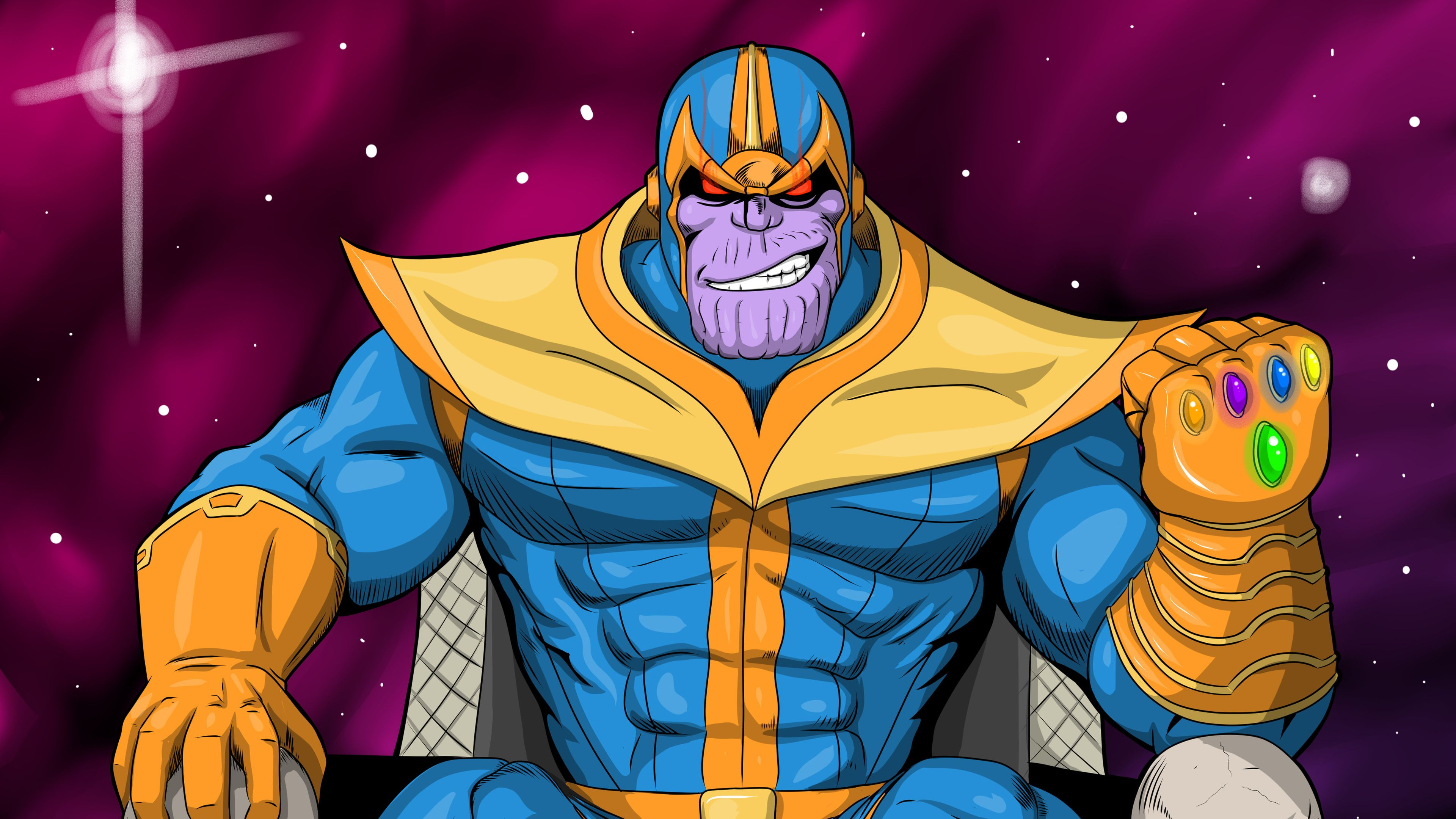 18 Thanos Cartoon Wallpapers On Wallpapersafari