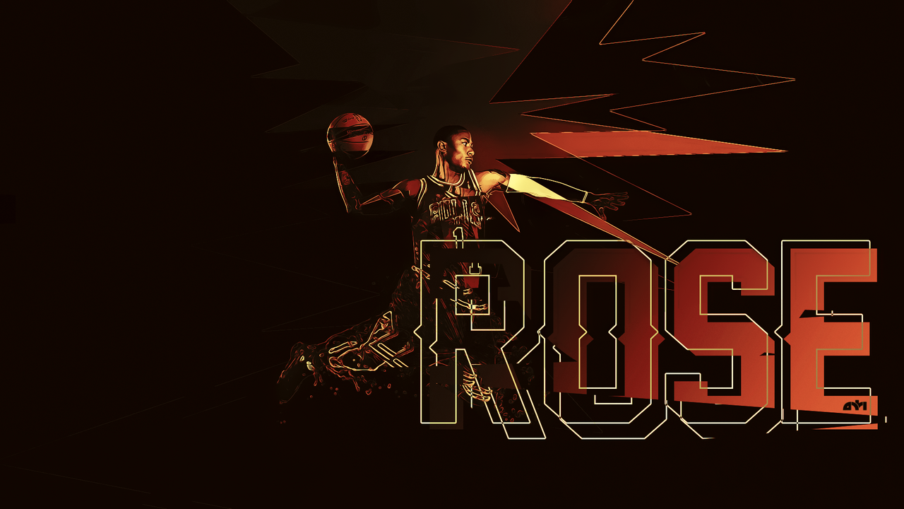 derrick rose logo wallpaper wallpapersafari