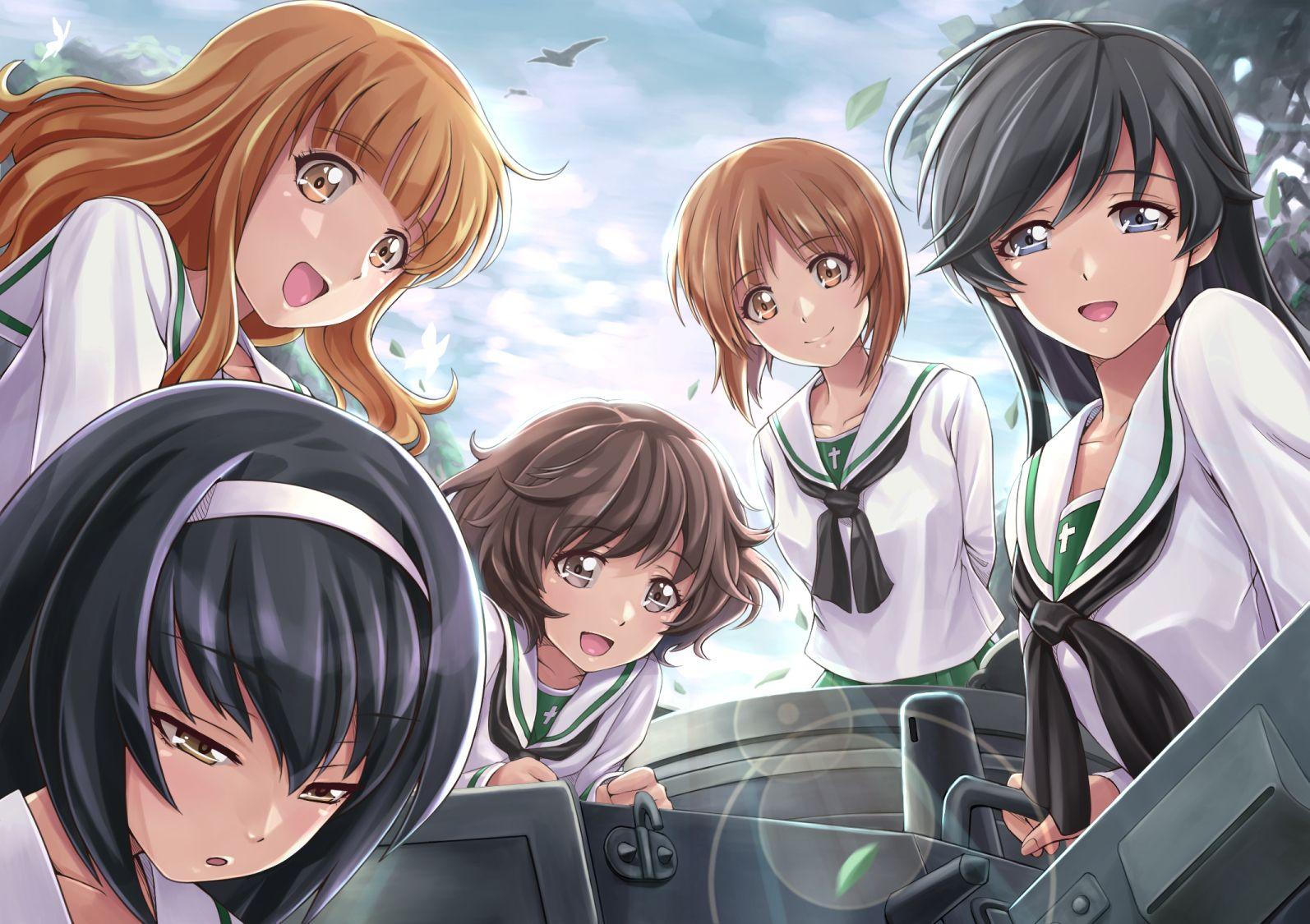 Anime   Girls Und Panzer Miho Nishizumi Hana Isuzu Yukari Akiyama 1594x1125