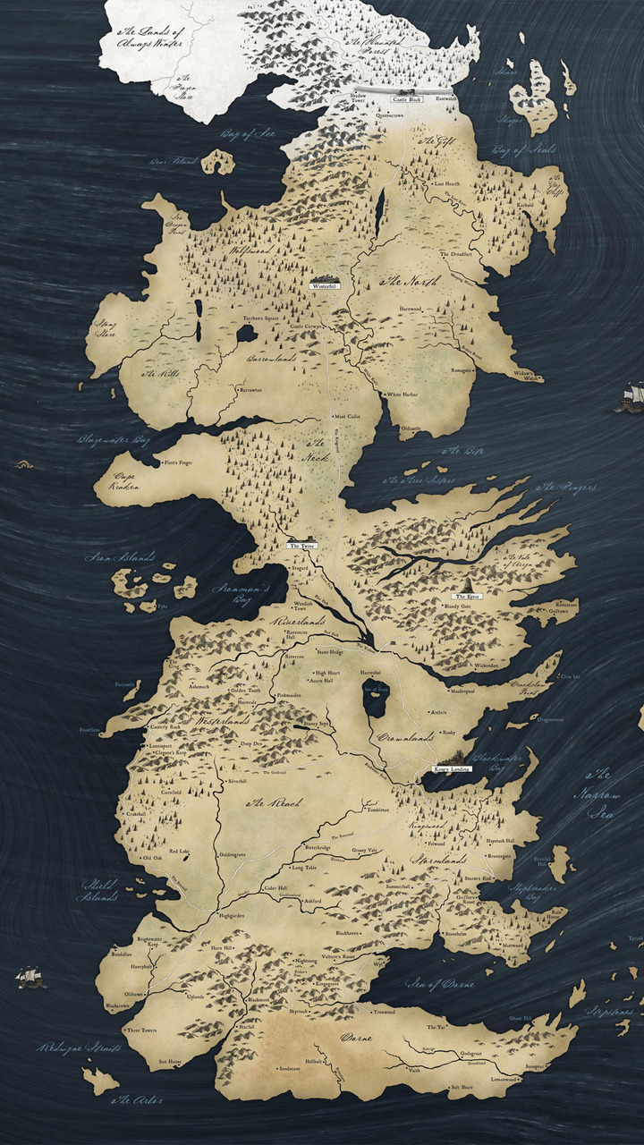 Game of Thrones map Mobile Wallpaper 5230 720x1280
