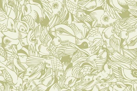 Bird Pattern Wallpaper Bird Flurry Pattern Wall Tiles 546x364