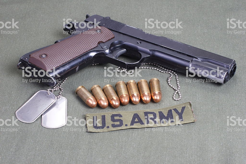 Background With Colt Government M1911 Stock Photo More Pictures 1024x683