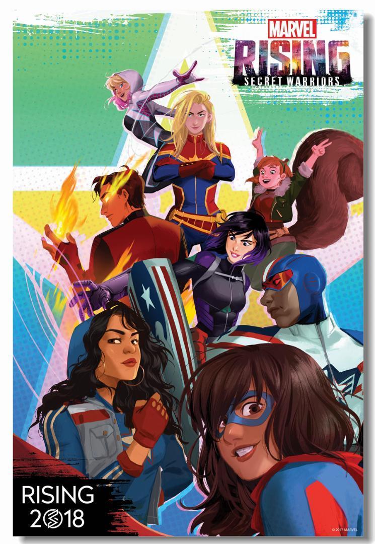 Custom Canvas Wall Mural Captain Marvel Poster Marvel Rising 745x1080