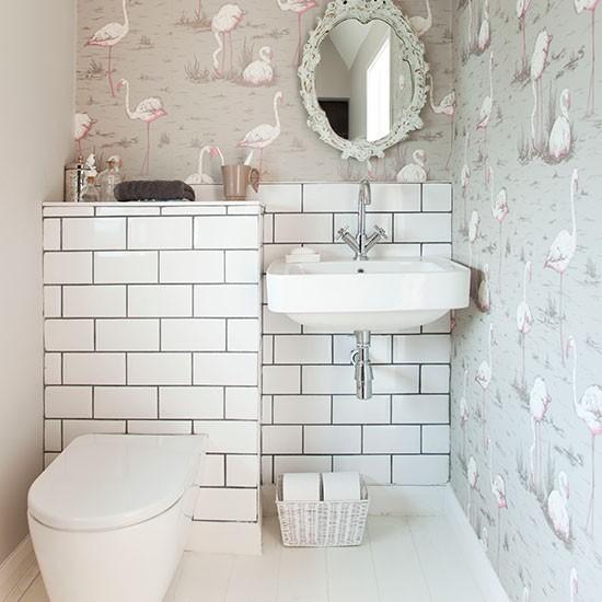 wallpaper Bathroom decorating Style at Home Housetohomecouk 550x550