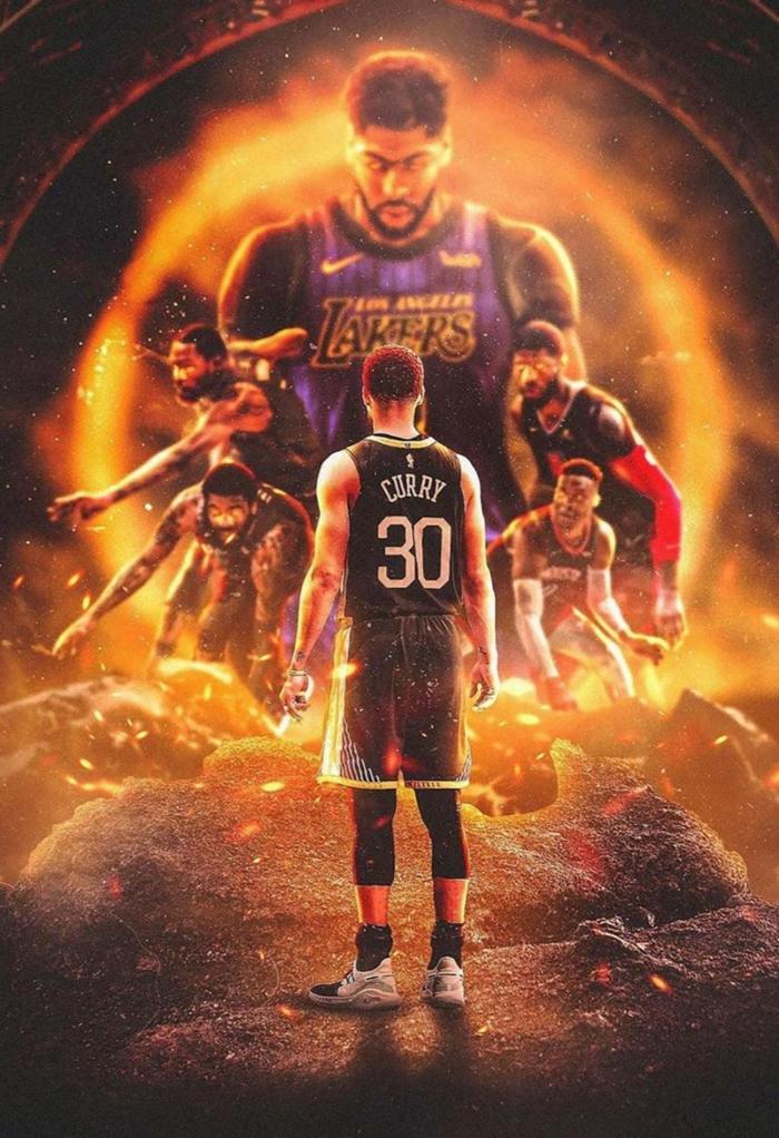 Choose a basketball wallpaper to help you until the NBA season 700x1022
