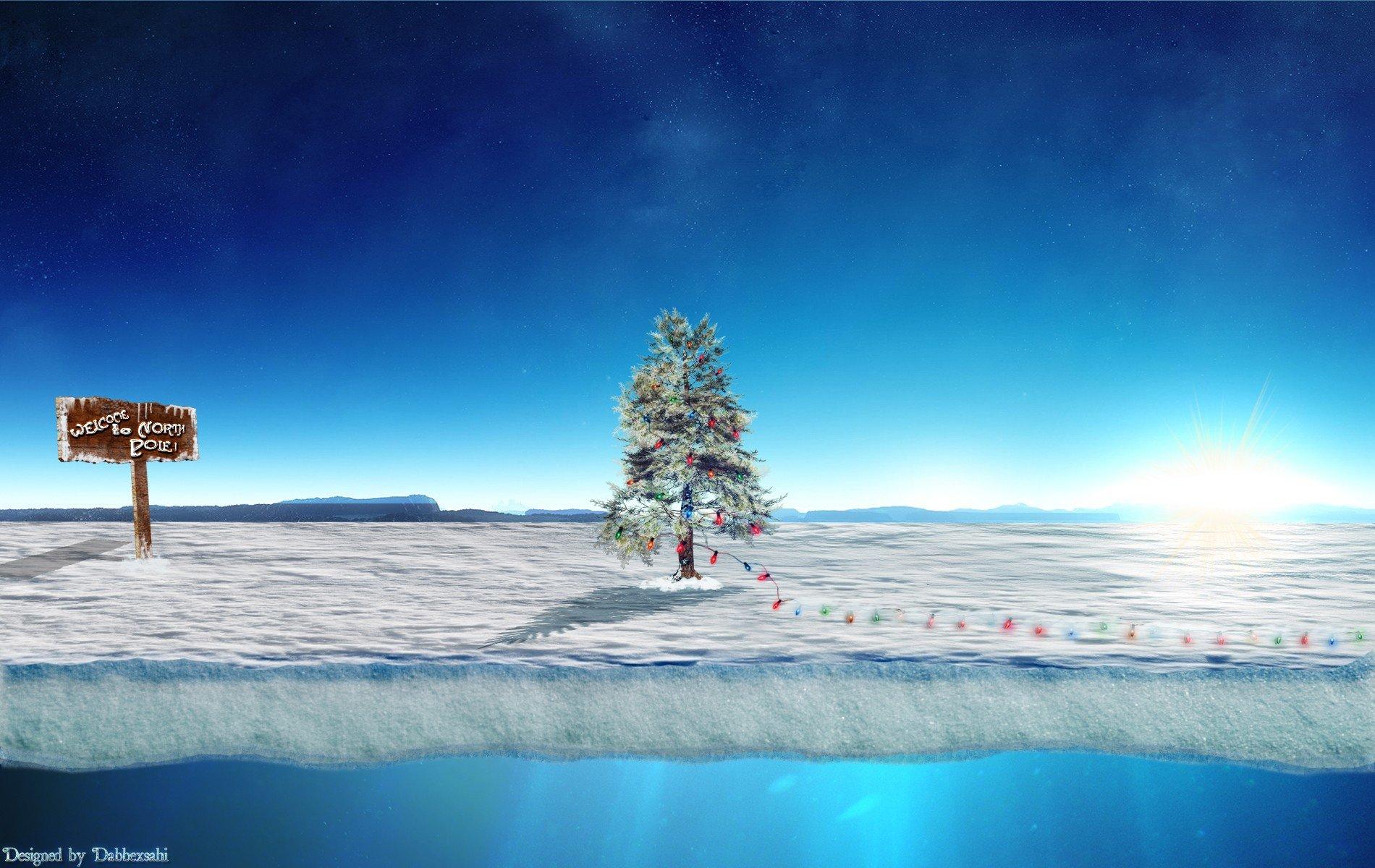 Santa Claus North pole Christmas Christmas Tree Wallpapers HD 1900x1200