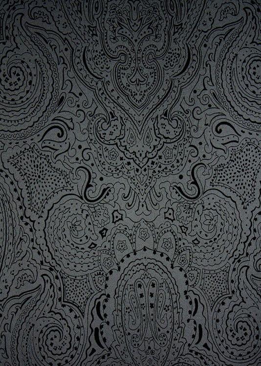 Grey Paisley Wallpaper Wallpapersafari