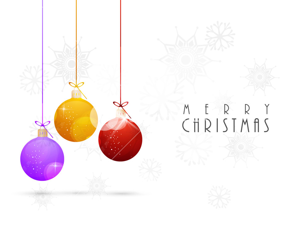 Chirstmas Day celebration with colourful hanging balls and stylish 1000x769