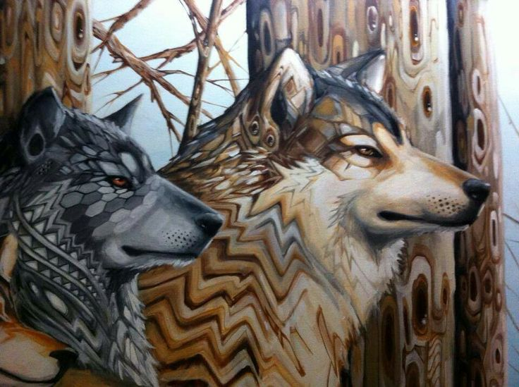Trippy wolves Wolf pictures Pinterest 736x549