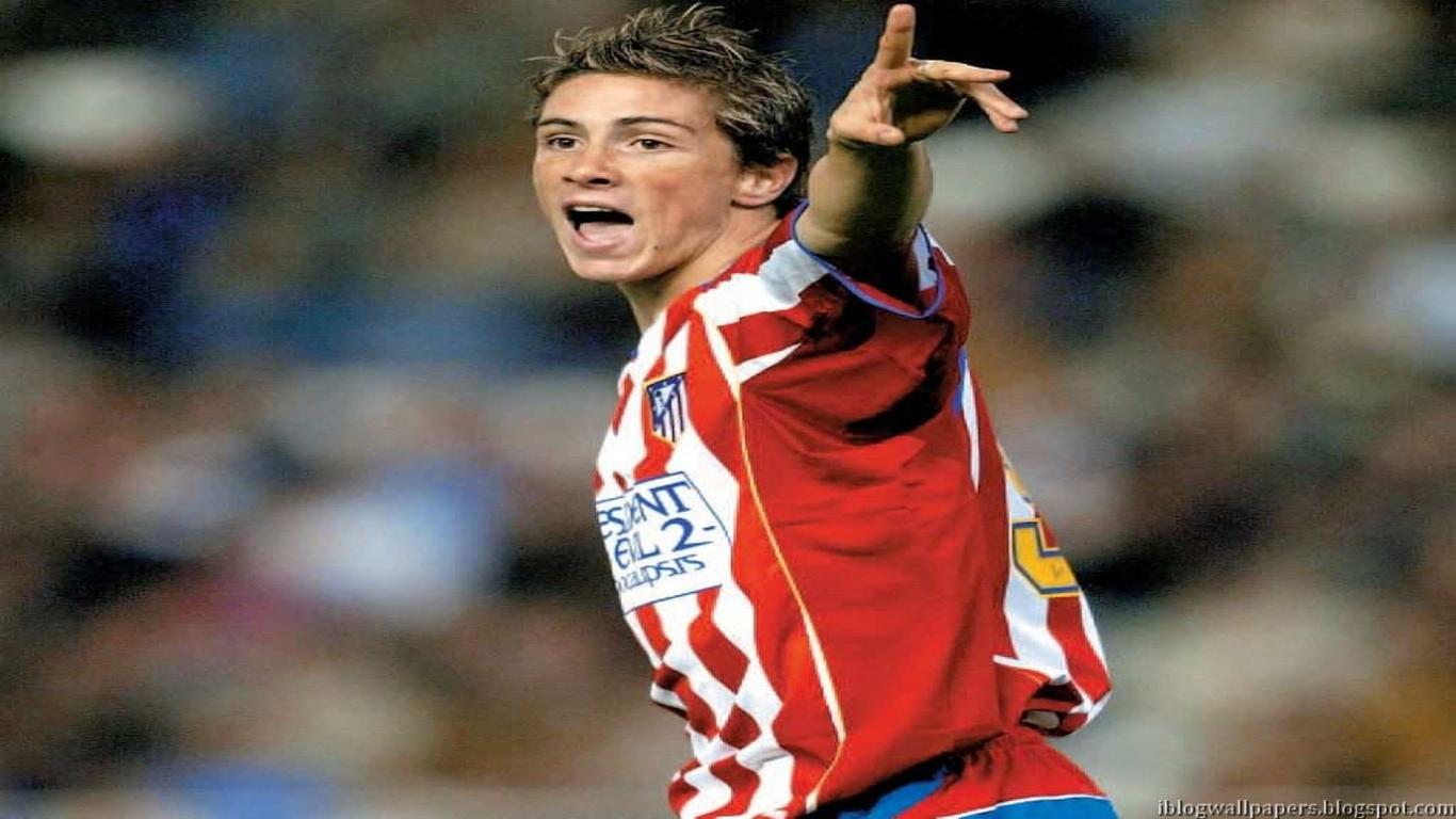 Fernando Torres Atletico Madrid Wallpaper HD Download Wallpaper 1366x768