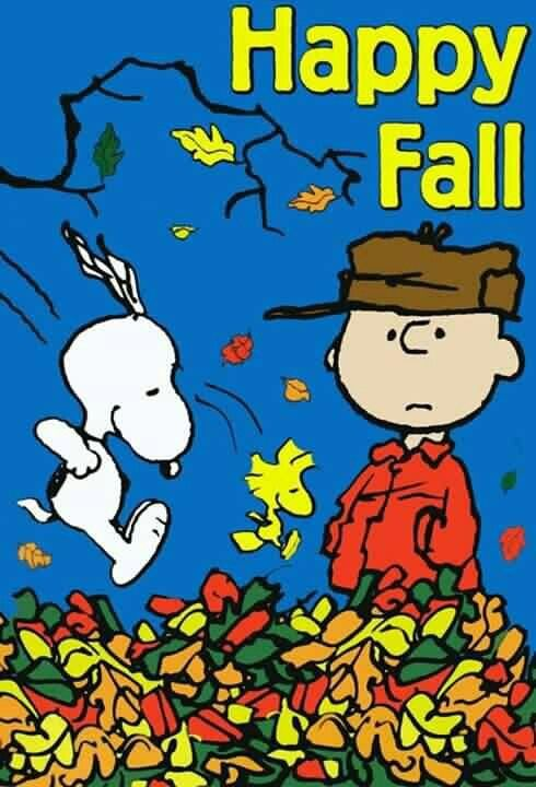 Happy Fall SNOOPY and the PEANUTS Gang Pinterest 490x720