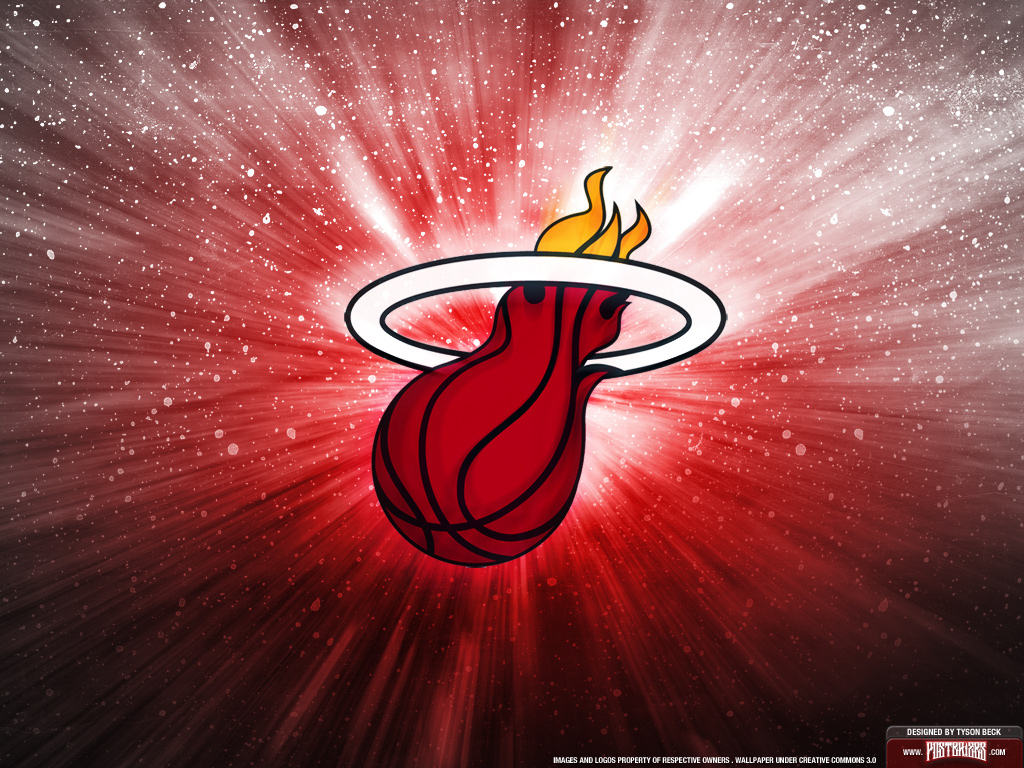 Miami Heat is with a team logo wallpaper on your computer and phone 1024x768