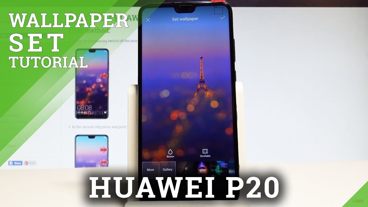 How to Change Wallpaper in HUAWEI P20   Set Up Wallpaper 1280x720