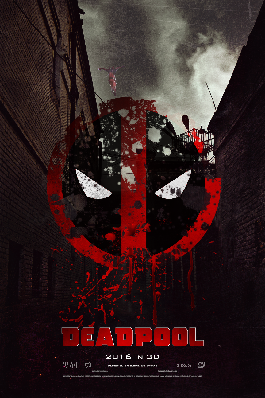 2016 Deadpool Movie Logo Poster Wallpaper Download Best Desktop HD 864x1296