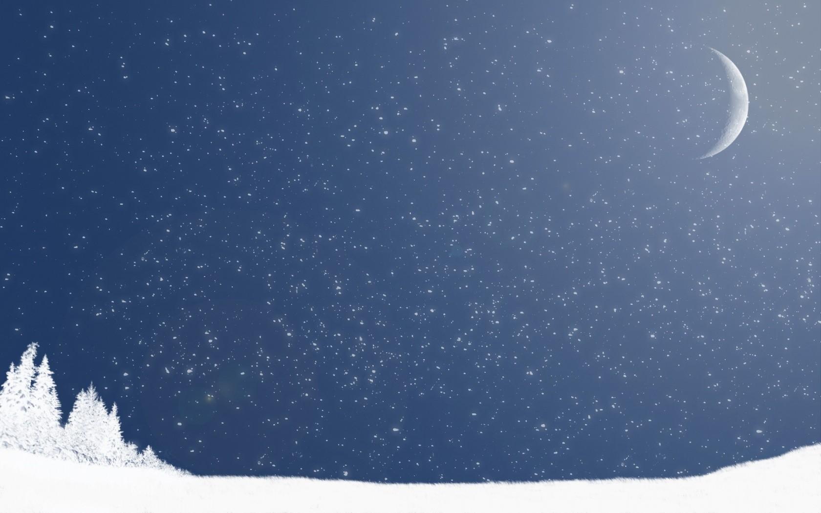 Winter Night Wallpaper 1680x1050 Winter Night Moon Artwork 1680x1050
