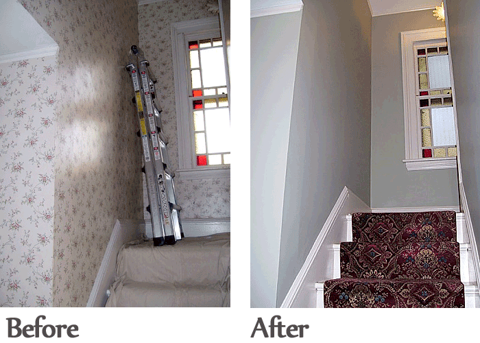 Before After JB Paint Wallpaper wallpaper removal restoration 700x500