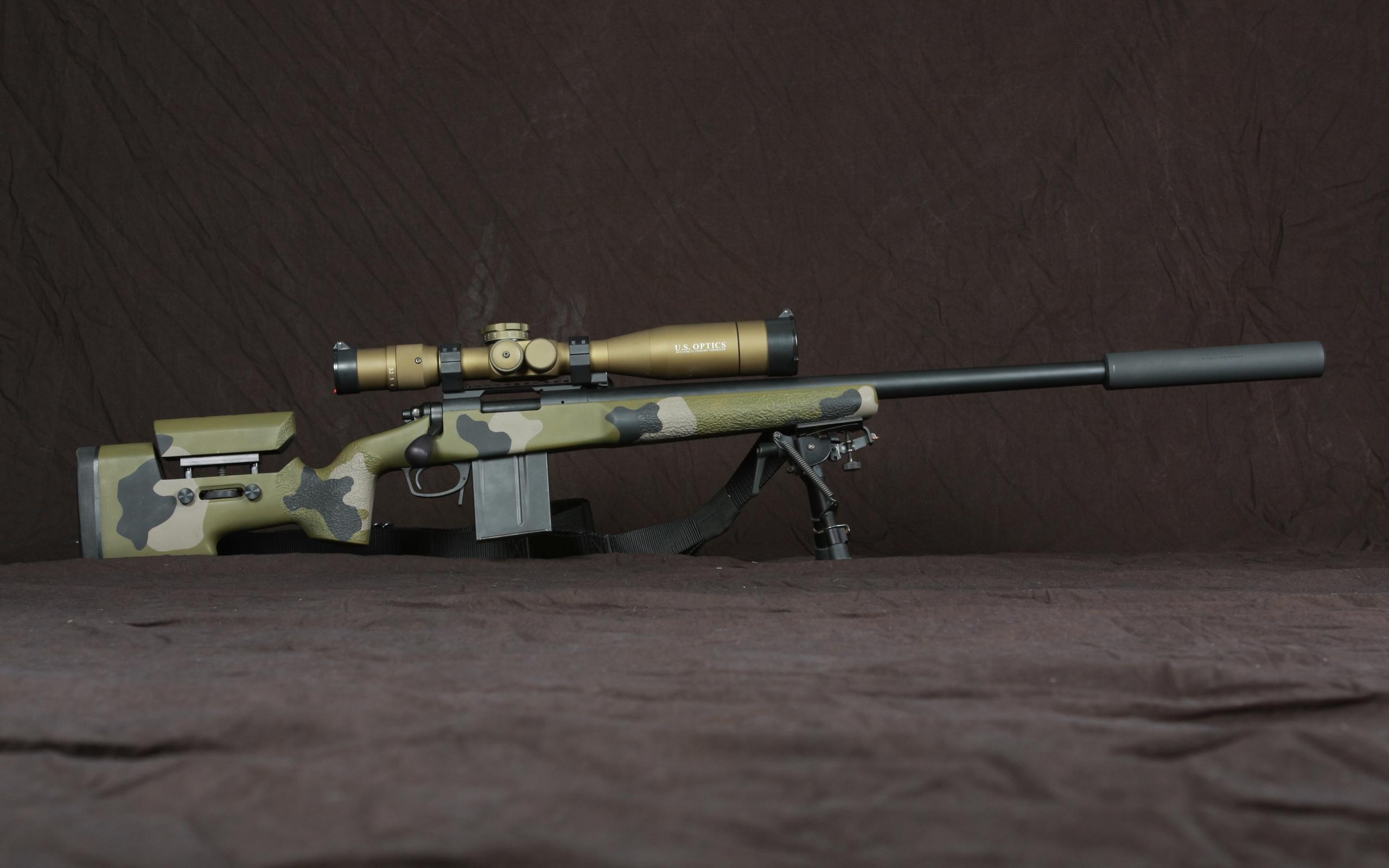 Sniper Rifle brown gun military rifle sniper 2560x1600