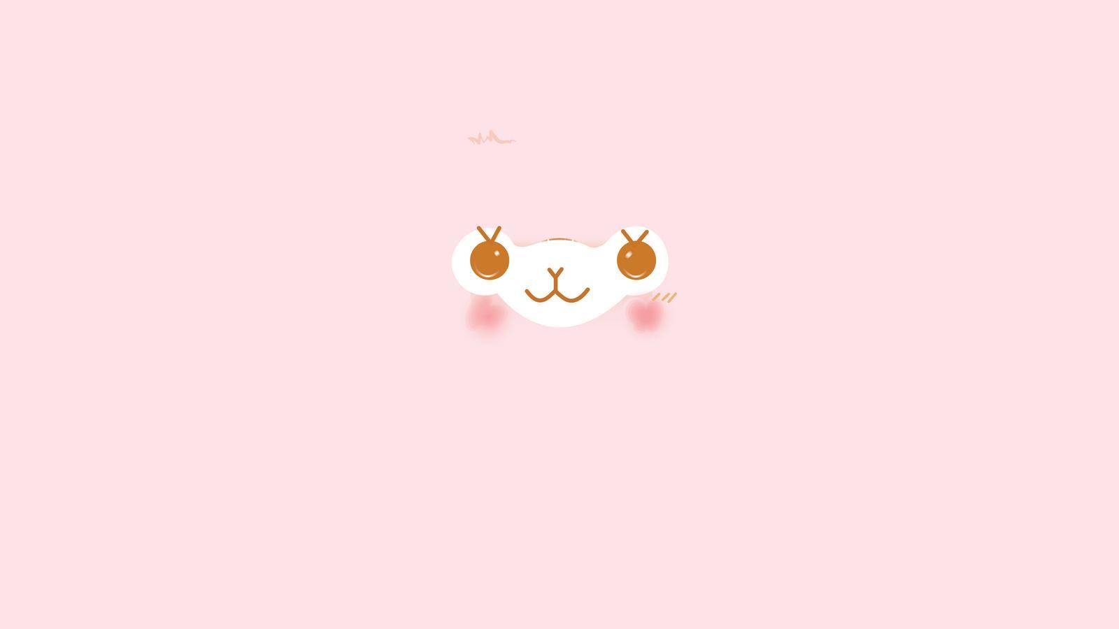 Alpacasso Facial Desktop Wallpaper PINK by JellysFancy 1600x900