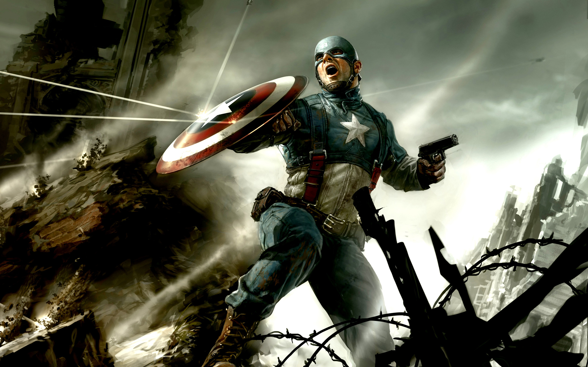 Hd wallpaper of captain america - Captain America Cg Wallpapers Hd Wallpapers