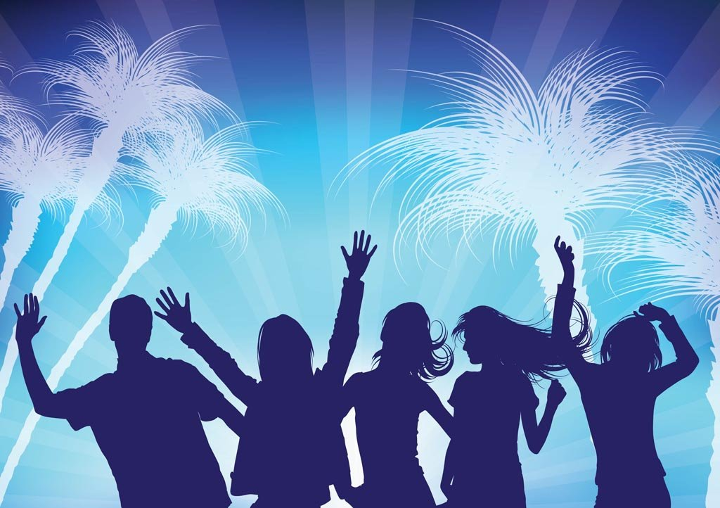 Cool Party Backgrounds Party flyer vector graphics 1024x722