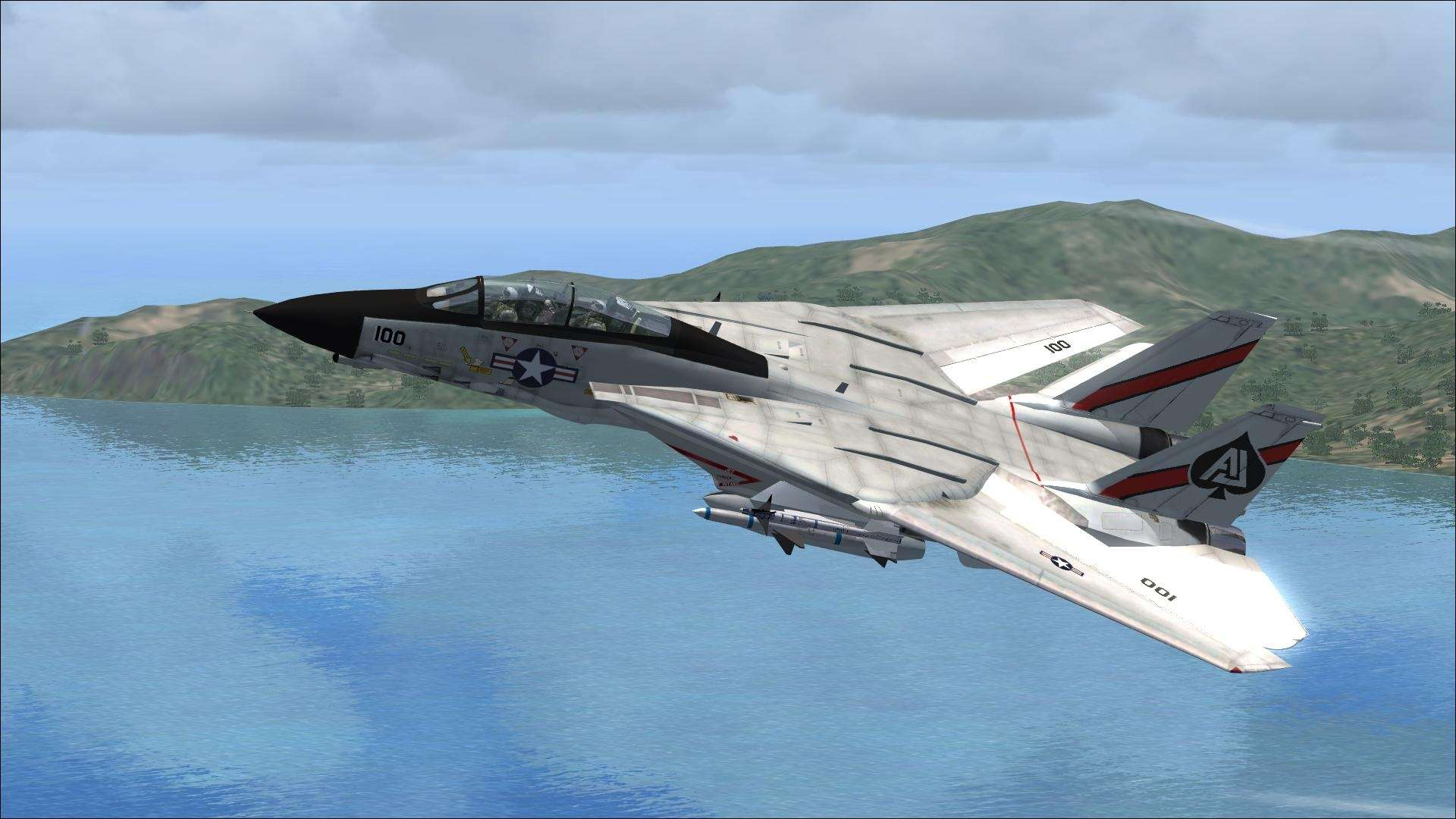 View Of Fsx F 14 Tomcat Vf 41 Wallpaper Hd Wallpapers 1920x1080