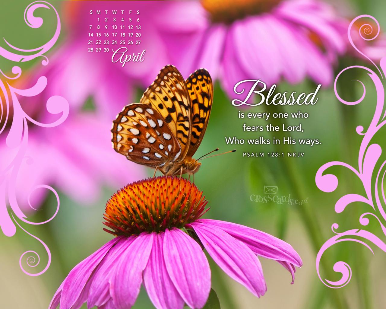 2016 Bible Verse Greetings Card Wallpapers April Month Desktop 1280x1024