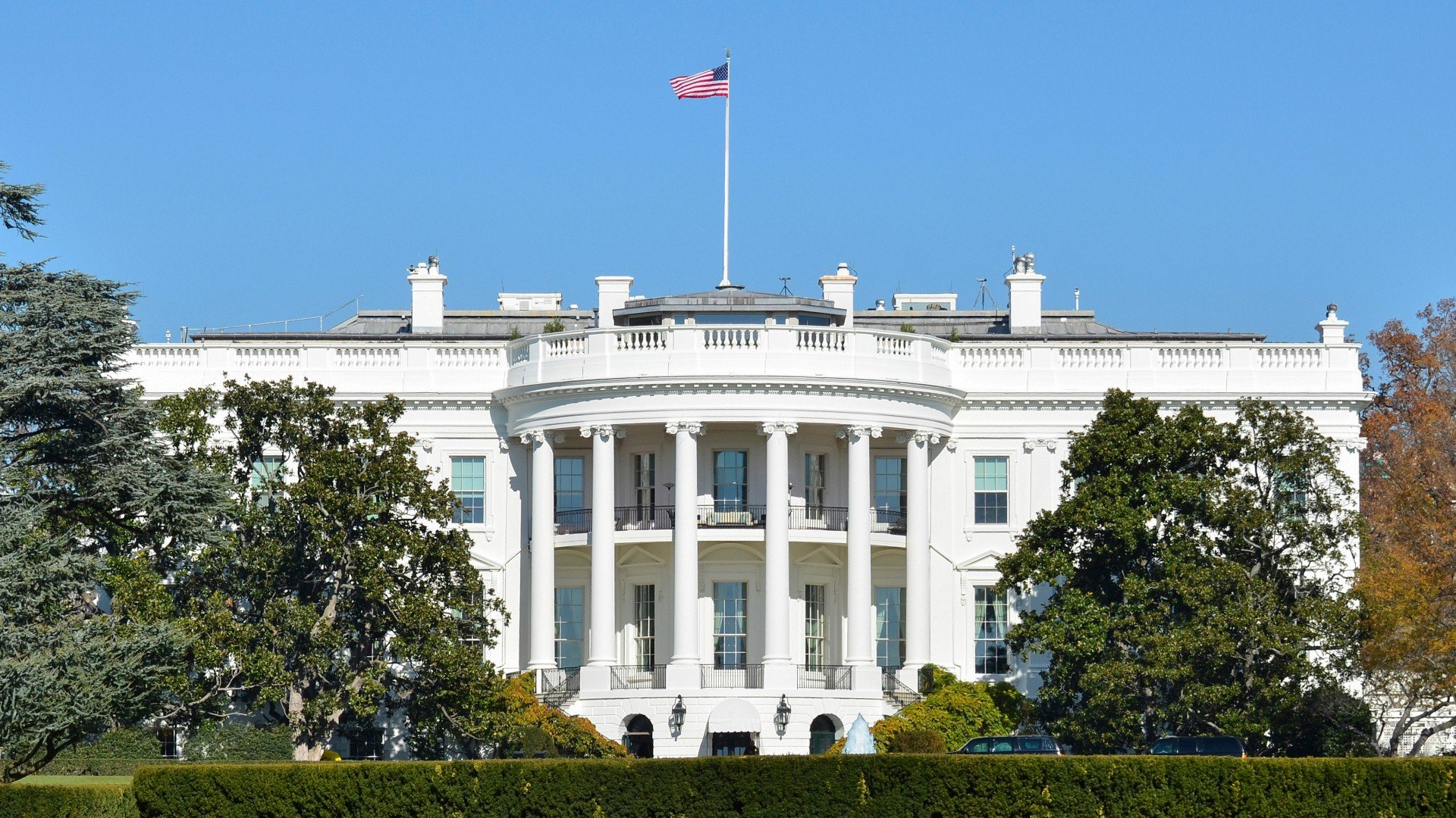 White House Official Residence in Washington DC United States of 1920x1080