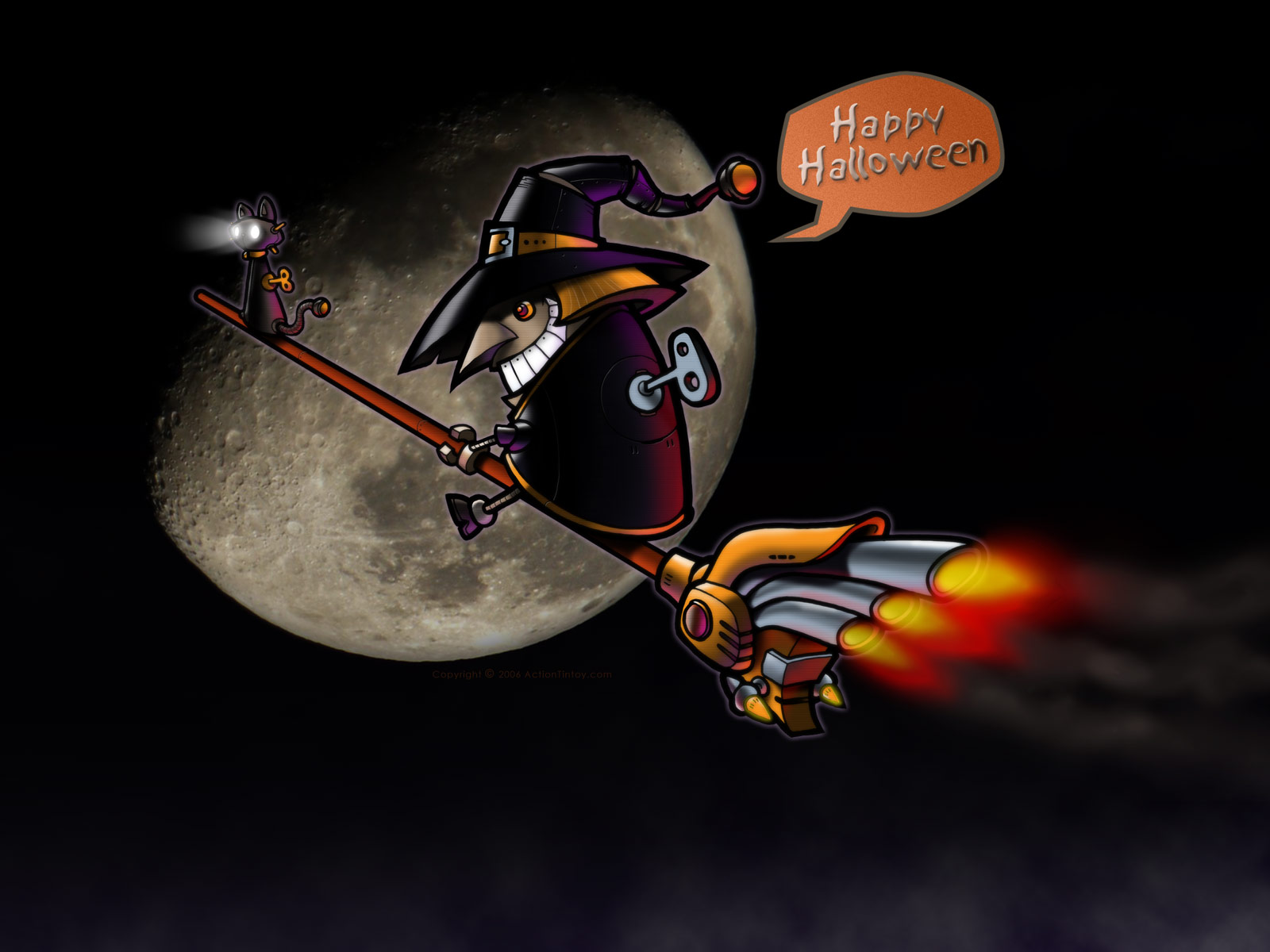 Happy Halloween witch available desktop background in 1600x1200 1600x1200